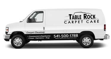 Table Rock Carpet cleaning Van
